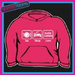 EAT SLEEP LOVE KEITH LEMON  HOODY HOODIE ALL SIZES & COLOURS